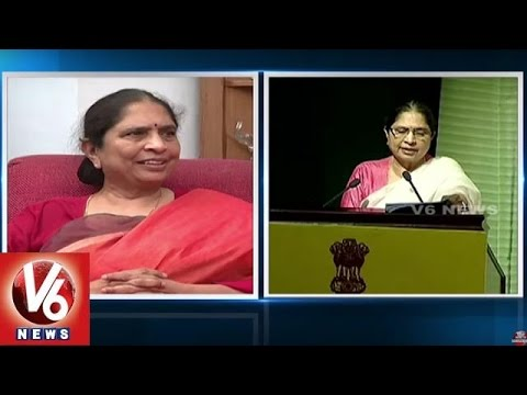 Shantha-Sinha-Gets-Womens-Day-Award-Womens-Day-Special-Hyderabad-V6-News-09-03-2016