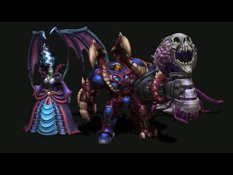 In Development: Hallow's End skins for Kerrigan, Abathur, and Tychus