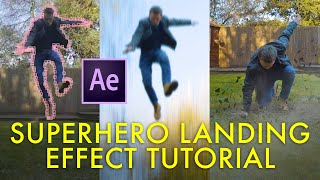 SUPERHERO LANDING effect tutorial! (After Effects)