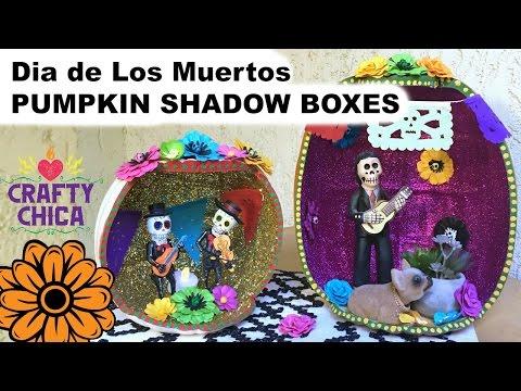 DIY Pumpkin Shadow Box || Muertos Craft