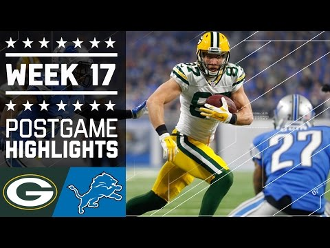 Packers vs. Lions   NFL Week 17 Game Highlights (видео)