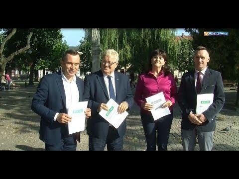 Konferencja prasowa Polskiego Stronnictwa Ludowego we Włoszczowie