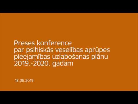 Veselības ministre Ilze Viņķele preses konferencē informē par psihiskās veselības aprūpes jaunajām iniciatīvām