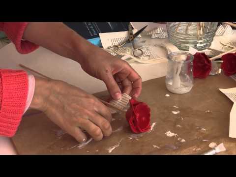 Roses artesanals de cartró per Sant Jordi 2014