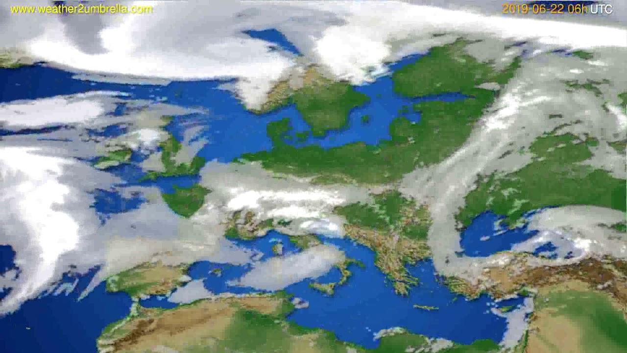 Cloud forecast Europe // modelrun: 12h UTC 2019-06-19