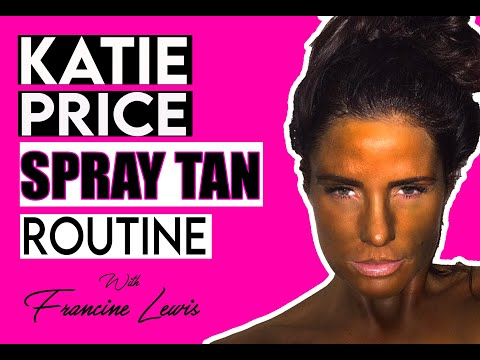 KATIE PRICE GETTING A SPRAY TAN READY FOR TONIGHT
