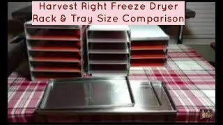 Harvest Right Freeze Dryer Best Choice all 3 Size Comparisons - Large, Standard & Small Racks Trays
