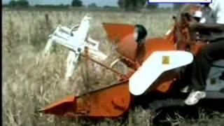 kisankraft mini combine harvester