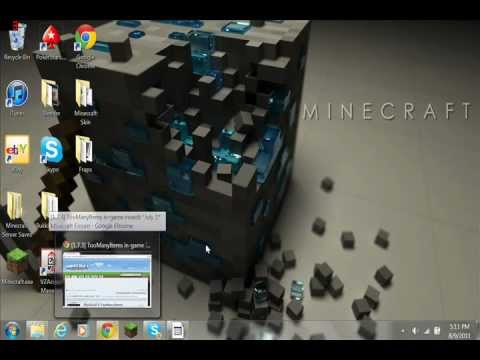Minecraft: Dalton's PC Tutorial of ToManyItems Mod 1.7.3