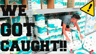 TOILET PAPER FORT!!(Kicked Out Of Walmart)