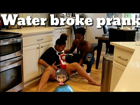 Water Broke Prank on BoyFriend  🌊👶🏾