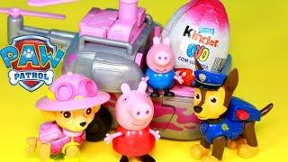 Hoje, Peppa Pig e Pig George conhecerão a Skye da Patrulha Canina (Patrulha Pata ou Paw Patrol) com seu helicóptero de resgate na selva! E ela trouxe ovo surpresa! Super divertido! Tambem tem episodios com a Everest, o Zuma, e o Rocky! Bem vindo ao nosso canal Happy Toys Brinquedos e Surpresas em português do Brasil. Aqui você vai ver abertura de brinquedos, resenha e brincadeiras. Vídeos infantis para crianças de todas as idades.Para não perder nenhum vídeo, inscreva-se: www.happytoystv.net  Patrulha Canina  (PAW Patrol) é uma série de animação infantil canadense americana criada por Keith Chapman. Foi estreada nos Estados Unidos no dia 12 de agosto de 2013 na Nick Jr. e no Canadá foi estreada em 2 de setembro de 2013 na TVOKids.Patrulha Canina é um desenho animado, onde Ryder lidera 6 cachorros heróicos: Ryder, Rubble, Zuma, Marshall, Everest e Rocky.Patrulha Canina é um desenho da Nickelodeon sobre 6 cachorrinhos Ryder, Marshall, Rubble, Chase, Rocky, Zuma e a Skye e um menino Ryder.Patrulha Canina também chamado de Paw Patrol, La Pat' Patrouille, Psi Patrol, Patrulla de Cachorros, Squadra Zampa, Щенячий патруль, A mancs őrjárat, Patrulla de los Carachos, Patrulla de la Pata, 爪子巡逻, chân tuần tra, patte patrouille, 足のパト, ロール, tass patrull, Pfote Patrouille, pata de patrulha, лапа патруль, patróil lapa, klou patrollie, dorëshkrim patrullë, labă de patrulare, шапа патрола, La squadra dei cuccioli. Peppa é uma porquinha linda e amorosa tem 5 anos de idade e adora se divertir com seus pais, Papai Pig e Mamãe Pig , e seu irmãozinho George.Ela adora brincar de se fantasiar e passa o dia saltando entre poças de lama ao redor de sua casa. Suas aventuras sempre terminam com muitas gargalhadas!George Pig - irmão de 3 anos de Peppa, que adora brincar com sua irmã mais velha. Seu brinquedo favorito é um dinossauro, que ele leva para toda parte. Costuma chorar quando se assusta ou quando perde o seu amigo dinossauro.Para não perder nenhum vídeo, inscreva-se: www.happytoystv.ne