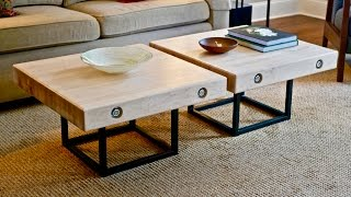 Modern Maple and Steel Coffee Table Part 1 | How To Build - Woodworking