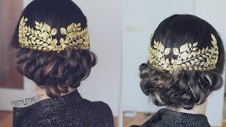 Easy Great Gatsby Inspired Hairstyle tutorial  | DIY Low Bun Updo with Vintage Headpiece!