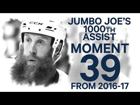 Video: No 39/100: Jumbo Joe picks up milestone 1000th NHL assist