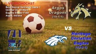 Soccer Semistate Gm 1 - Argos vs Heritage Christian