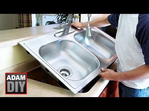 How to Replace & Install a Kitchen Sink / Cast-Iron to Stainless-Steel