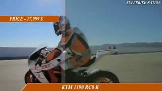 6. MV Augusta F4 RR vs KTM 1190 RC8R-Specifications