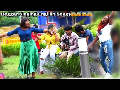 Beggar Singing English Song In Delhi Prank |  Hitesh Films