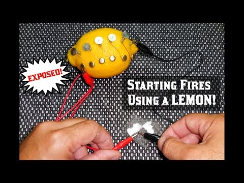 Starting Fires With A LEMON! (EXPOSED)