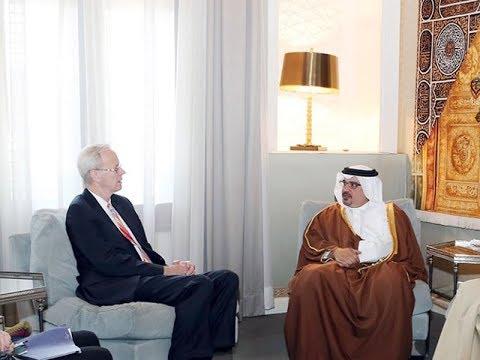 سمو ولي العهد يستقبل السفير الأمريكي بمناسبة انتهاء فترة عمله