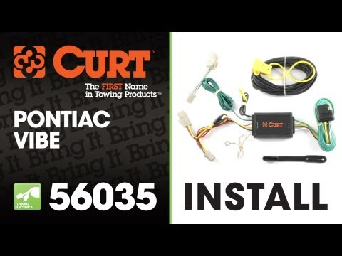 Trailer Wiring Install: CURT 56035 T-Connector on 2010 Pontiac Vibe