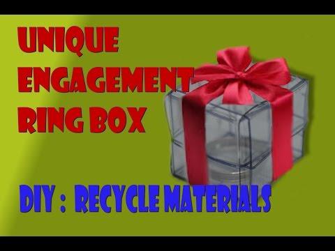 DIY Unique Engagement Ring Box / Caja Extraordinaria Para Anillo de Compromiso