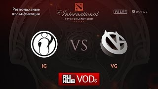 VG vs IG, game 1