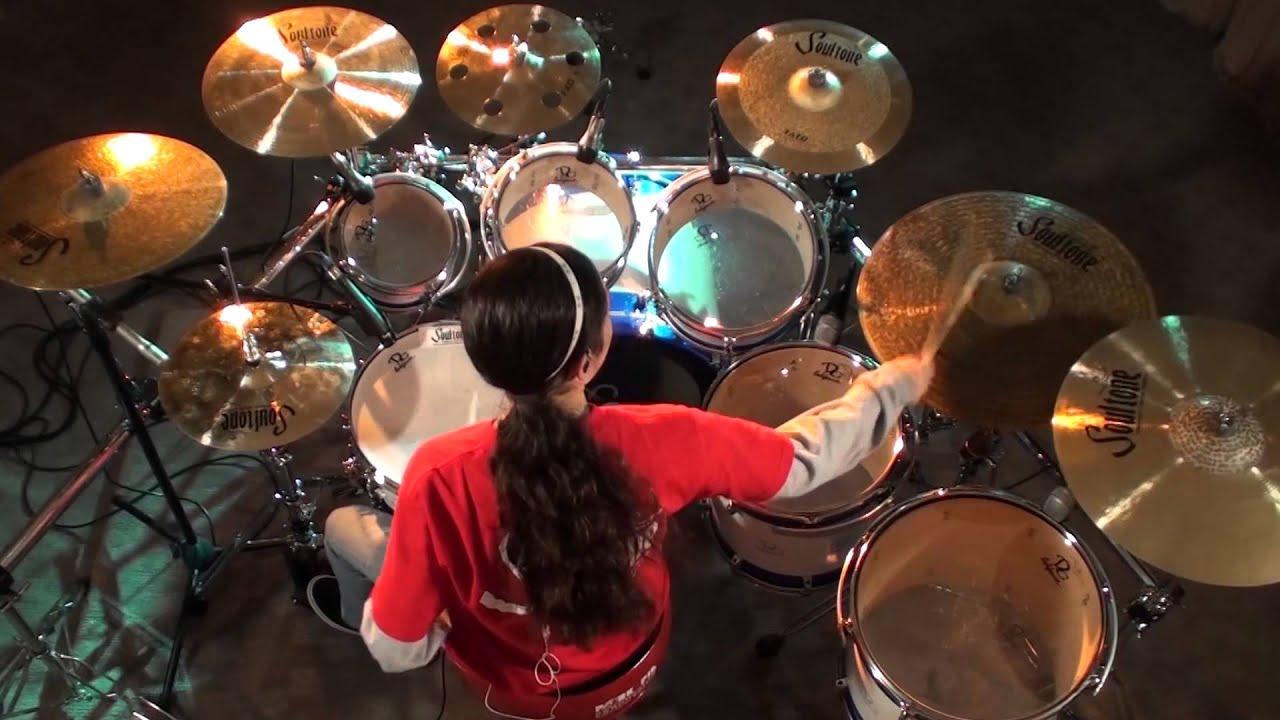 "ASK iAN * 13-year-old Drummer, Gina ""G"" Osmar / Jenifer Ruano with TOM TOM MAGAZINE"