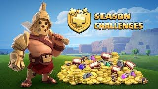 Clash of Clans SEASON CHALLENGES Have Arrived! (New Update)