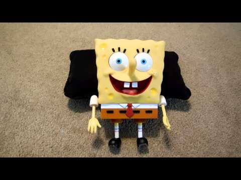 Sponge Bob Squarepants Talking Toy Video ~ Viacom 2002
