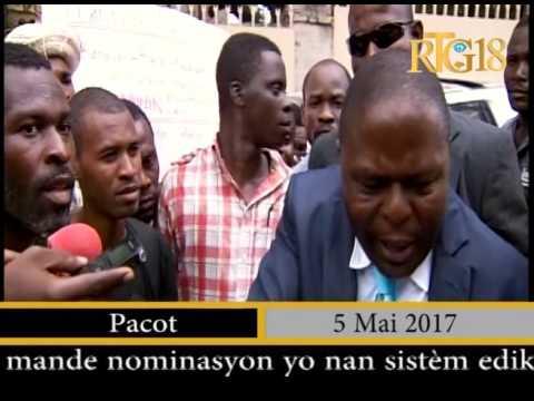 L'intervention du Ministre de l'Education , Pierre Josué A.Cadet sur le dossier de paiement