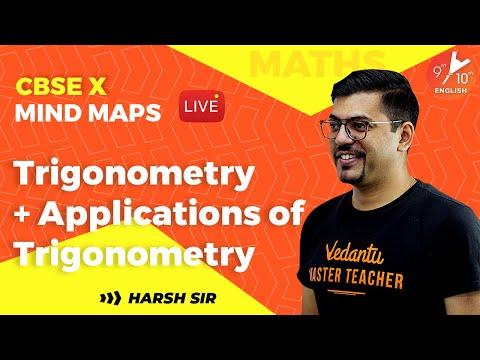 Trigonometry & Applications of Trigonometry Mind Map | CBSE Class 10 Math Chap 8 | Vedantu 9 and 10