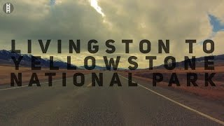 Livingston (MT) United States  City pictures : Livingston Montana to Mammoth Hot Springs Yellowstone in 4K