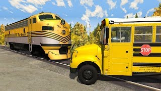 Crazy School Bus Crashes #1 - BeamNG DRIVE | SmashChan