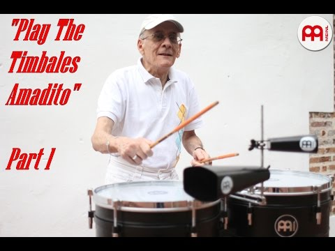 "Amadito Valdes ""Play The Timbales Amadito"" Interview and Studio Session Part 1"