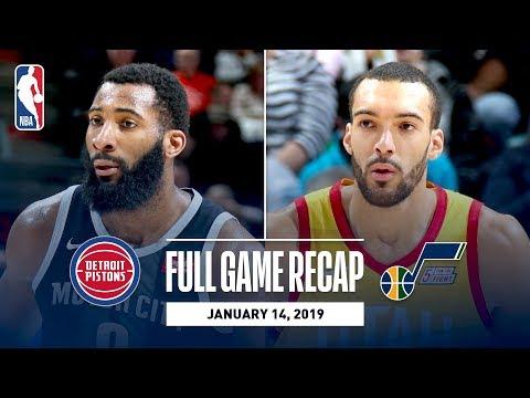 Video: Full Game Recap: Pistons vs Jazz | Rudy Gobert Grabs A Career-High 25 Rebounds