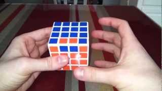 Rubik's cube 4x4 edge parity without complicated algorithms