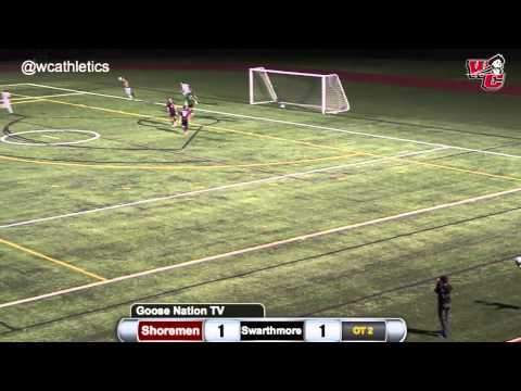 Washington College Men's Soccer Double-Overtime Game-Winner v. Swarthmore