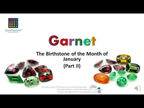 GemeBlog Video: Garnet- The Birthstone of the Month of January - Part 2
