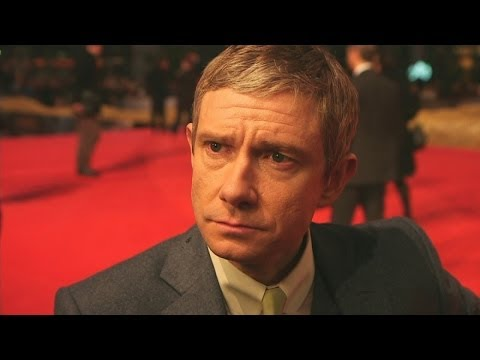 Freeman - More from The Hobbit Premiere: http://bit.ly/1hKH031 Martin Freeman has revealed what he found most difficult about filming the Hobbit movies. At the Europea...