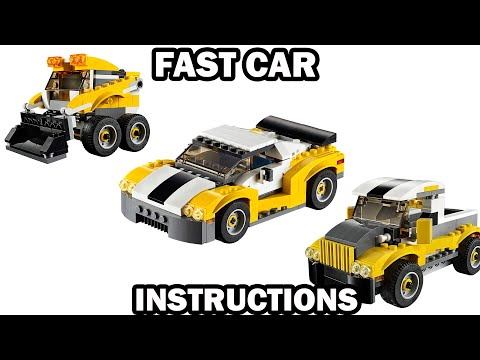 LEGO INSTRUCTIONS - FAST CAR - CREATOR 3 in 1 - LEGO 31046