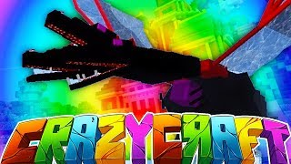 DEFEATING THE QUEEN DRAGON - MINECRAFT'S OLDEST MOD PACK CRAZY CRAFT SURVIVAL #15