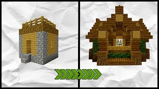 Minecraft: How To Transform A Village | Small House Tutorial