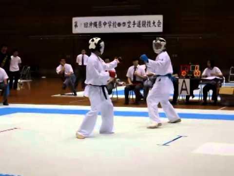 平成26年度 沖縄県中学校春季空手道大会 決勝戦