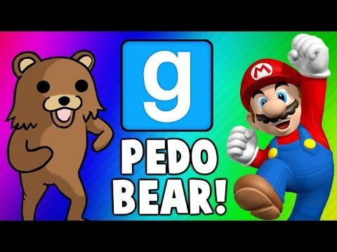 Gmod Escape PedoBear - Super Mario Tryout Frustration (Garry& 39;s Mod Funny Moments & Fails)