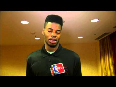 AT - Kentucky standout Nerlens Noel talks to the media about his knee as well as possibly being the Number 1 pick at the 2013 NBA Draft.Catch all the Combine cove...
