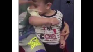 Kid Trys To Eat A Small Live Bird