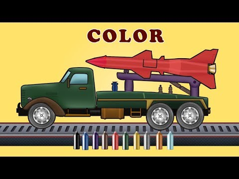 Army Missile launcher | Learning Colours Video For Kids