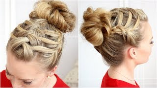Double Waterfall Triple French Braid - YouTube